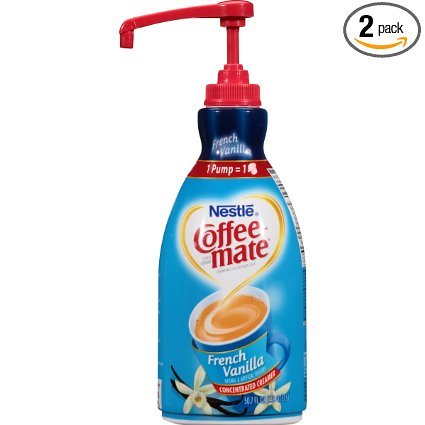 Coffee Mate French Vanilla Liquid Creamer Pump (2- 1.5 L)