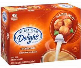 ID Hazelnut Creamers 48/ct Coffee-mate Hazelnut Creamers