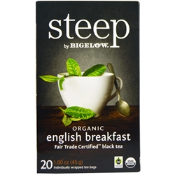 Steep Organic English Breakfast Bigelow Earl Grey Tea